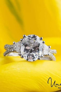 33 Unique Engagement Rings That Will Make Her Happy ❤️ unique engagement rings three stones oval cut diamond ❤️ More on the blog: https://ohsoperfectproposal.com/unique-engagement-rings/