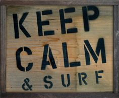 Keep Calm & Surf Frame - 12x16  The beach is a place where words just dont do it justice. We go there to relax and forget about all your worries! So why not decorate your home with a beautiful quote sign that can remind you of those wonderful memories out in the sea? Professionally designed canvas with that rustic look and feel of driftwood and distress. Keep Calm & Surf this beautifully designed and printed wooden frame wall art. It is perfect for hanging in the family room, guest room or…