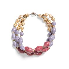 Lightweight and colorful, this beaded bracelet can be worn alone or stacked with chunky gold bangles. Try it with a yellow based outfit for a fun contrast in colors. (Stitch Fix Ivy Spritz Beaded Bracelet)
