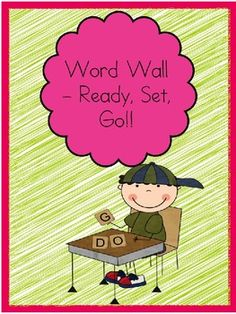$This is an entire word wall set with Alphabet picture cues and word wall words for kindergarten AND first grade. I use my district's mandated word ...