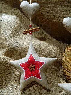 Staročeské Vánoce - závěsná hvězda se srdíčkem 4