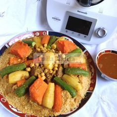 Couscous marocain au Thermomix TM5 Beef Barley Soup, Thermomix Desserts, Pumpkin Spice Cupcakes, Pasta, Bear Cakes, Cocktail Recipes, Latifa, Cobb Salad, Cravings