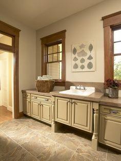 White kitchens with oak trim