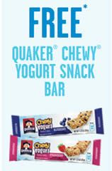FREE Quaker Chewy Yogurt Snack Bar at 7-Eleven Today on http://www.icravefreebies.com/