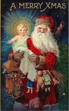Niño Dios y Santa Claus