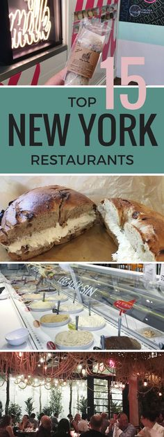 Best New York restaurants for a weekend trip in NYC! Anything from a quick snack and instagrammable gems to high end restaurants!