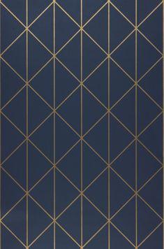 Wallpaper Biloba | Wallpaper from the 70s Wallpaper Art Deco, Vintage Wallpaper Patterns, Wallpaper Samples, Home Wallpaper, Pattern Wallpaper, Cigar Room, Diy Papier, Gold Walls, Dark Blue