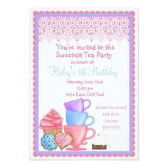 Tea Party Birthday Invitations Wonderland Tea Party Birthday Invitations