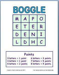 Classroom Freebies: Boggle Fun for Everyone!