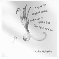 Arthur Holitscher quote and fork doodle