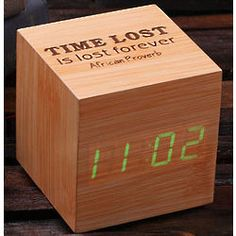 Personalized Wooden Digital Clock