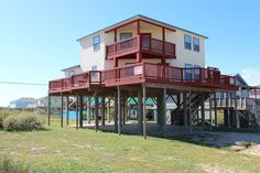 Surfside Beach Vacation Rental - VRBO 454286 - 5 BR Gulf Coast House in TX, Just a Few Yards from White Sandy Beaches, a Home and a View Lik...