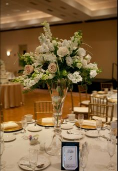 another inspiration into reality...these were our tall wedding centerpieces