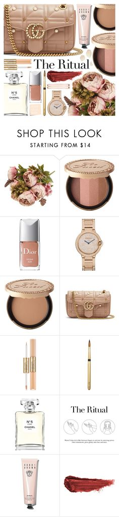 """""""Beauty Secrets"""" by pastelneon ❤ liked on Polyvore featuring beauty, Too Faced Cosmetics, Christian Dior, Gucci, Estée Lauder, Chanel, La Mer, Bobbi Brown Cosmetics, By Terry and Anne Klein"""
