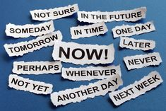 Procrastination is a universal problem. Even the most irritatingly well-organized people know the agony of putting something off until the last ... possible ... minute. Why do we put ourselves through this misery, knowing the consequences? And how can we overcome the urge?