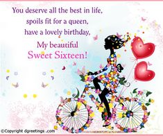 Sweet 17th Birthday Quotes For Girls. QuotesGram by @quotesgram