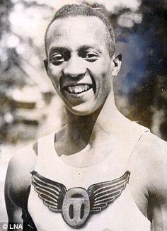 Black American track athlete Jesse Owens
