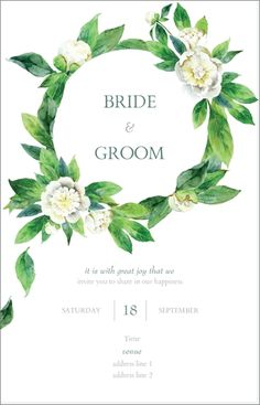 """Why You'll Love White Greenery Ultra Thick Vertical Flat Wedding Invitations - 5""""x7"""""""