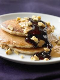3-Minute Meal No Batter! No Batter! Blueberry and Peanut Butter Pancake - Healthy Recipe Finder | Prevention