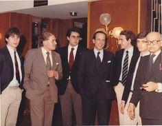 Fernando Rodríguez, Marcos Vega, José María Vellido, El Ministro y colegial Fernando Ledesma, Alberto de la Torre (Subdirector) y Joaquín Páez. Foto cedida por Fernando Rodríguez Ferreras.