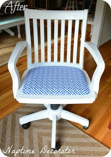 Naptime Decorator: Office Swivel Chair Makeover!