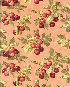Farmer's Market - Vintage Cherries - Rose Nature Drawing, Scrapbooking, Botanical Flowers, Decoupage Paper, Fabric Wallpaper, Repeating Patterns, Floral Fabric, Vintage Images, Textured Background