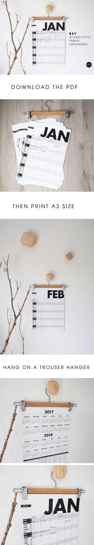 DIY 2017 Family Organiser Calendar | TOMFO
