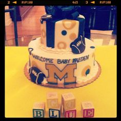 Ultimate baby shower cake. #GoBlue