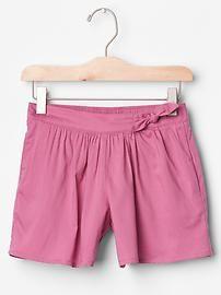 Knot bow soft shorts