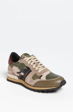 Valentino Camouflage Sneaker. If you're wearing a comfort shoe it may as well be stylishly comfortable.