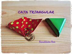 Como hacer una Caja triangular para regalos pequeños, Origami - Papirofl...