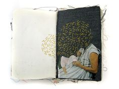 'Alison Worman is a recent graduate from the Maryland Institute College of Art where she received a BFA in Fiber and Book Arts. Artist Journal, Artist Sketchbook, Art Journal Pages, Journal Entries, Art Journals, Moleskine, Art Et Illustration, Sketchbook Inspiration, Art Graphique