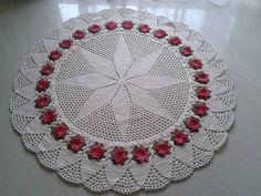 tapete floral | Lene Santos artes em crochê | Elo7