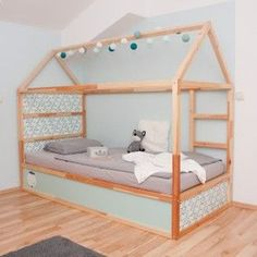 51 Cool Ikea Kura Beds Ideas For Your Kids Rooms. The Ikea beds are elegant furniture among the many product lines found at the Ikea stores in different countries. Kura Bed Hack, Ikea Kura Hack, Ikea Hacks, High Beds, Big Girl Rooms, Boy Rooms, House Beds, Kids Bedroom, Kids Rooms