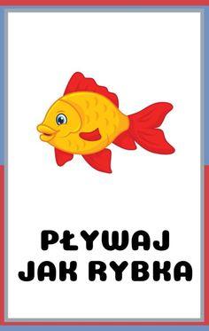 Karty ruchowe dla dzieci do druku - zwierzęta | Do druku | RodzicielskieInspiracje.pl Diy For Kids, Crafts For Kids, Speech Therapy, Montessori, Pikachu, Kawaii, Education, Logos, Creative