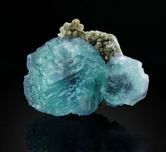 Fluorite  & QUARTZ from  Xuebaoding China