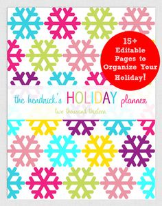 Holiday Planner - printable!