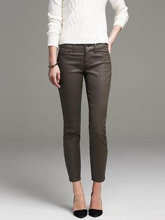 Coated Sateen Skinny Ankle Pant Product Image