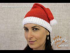 Touca de Crochê Natal - Aprendendo Crochê