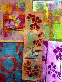 TandiArt: Gelli Art prints on fabric