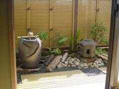veranda small space Japanese garden