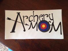 "Vinyl decal "" archery mom"""