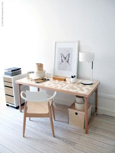 Ikea hack: mesa plegable tuneada como mesa de trabajo :)