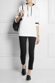 Karl Lagerfeld|Sweat à capuche en jersey de coton oversize Samantha|NET-A-PORTER.COM