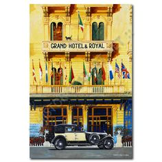sheridon davies art of speed - The Grand Hotel. A visit to Viareggio provided the inspiration for the grandios days of the Rolls Royce Phantom, Automotive Art, Car Painting, Grand Tour, Grand Hotel, Motor Car, Classic Cars, Travel Photography, Racing