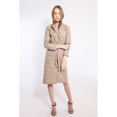 Check cotton midi dress
