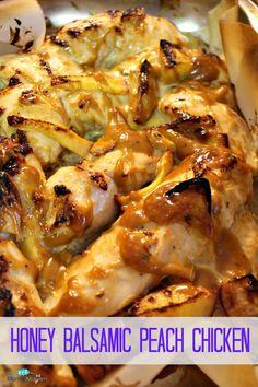 Honey Balsamic Peach Chicken | The Mama Maven Blog