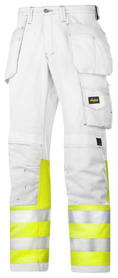 A painter's favourite, with a brilliant twist. Amazing high visibility painter's trousers, featuring advanced cut for a perfect fit and superior Cordura® reinforcements for enhanced durability. EN 20471, Class 1.