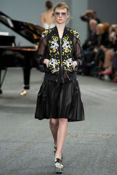 Jacket!! Granny goes Nightclub hot.  Erdem Spring 2014 Ready-to-Wear Collection Slideshow on Style.com