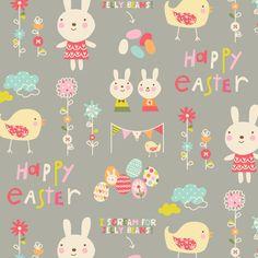 Easter Garden fabric by amel24 on Spoonflower - custom fabric